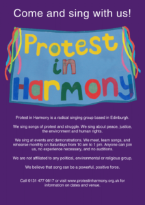 Protest in Harmony | A radical singing group based in Edinburgh